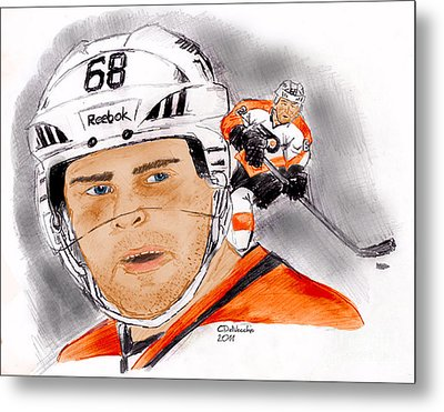 Jaromir Jagr- Color Metal Print by Chris  DelVecchio