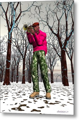 Jazzmas In The Park 2 Metal Print by Walter Oliver Neal