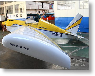 Jdt Mini Max 1600r . Eros . Single Engine Propeller Kit Airplane . 7d11189 Metal Print by Wingsdomain Art and Photography