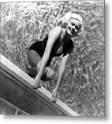 Jean Harlow, Mgm, Ca. Early 1930s Metal Print by Everett