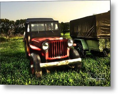 Jeep Seen Better Days Metal Print by Dan Friend