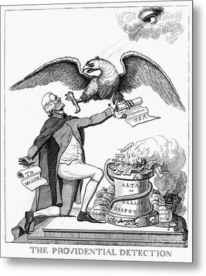 Jefferson: Cartoon, 1800 Metal Print by Granger