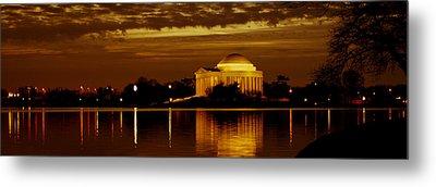 Jefferson Memorial - Panoramic Metal Print by David Hahn
