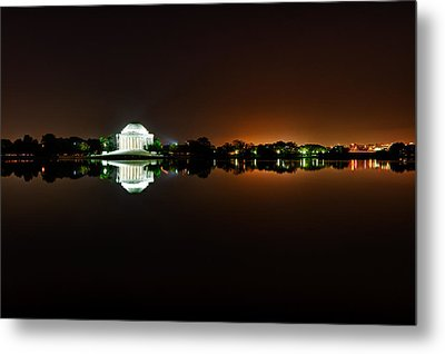 Jefferson Memorial Before Sunrise 1 Metal Print by Val Black Russian Tourchin