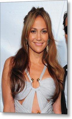 Jennifer Lopez Wearing An Emilio Pucci Metal Print by Everett