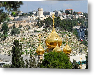 Jerusalem Church Of St Mary Magdalene  Metal Print by Eva Kaufman