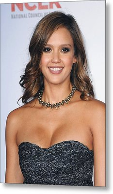 Jessica Alba At Arrivals For 2011 Nclr Metal Print by Everett