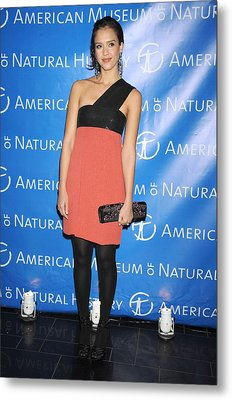 Jessica Alba  Wearing A Narciso Metal Print by Everett