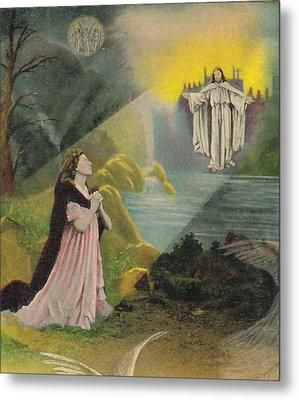 Jesus Appears Metal Print by Anne Cameron Cutri