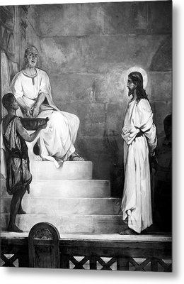 Jesus Christ, Title Pontius Pilate Metal Print by Everett