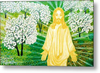 Jesus On Mount Thabor Metal Print by Augusta Stylianou