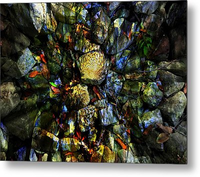 Jeweled Cavern Metal Print by Mindy Newman