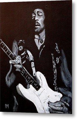 Jimi Hendrix Metal Print by Pete Maier