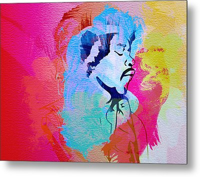 Jimmy Hendrix Metal Print by Naxart Studio