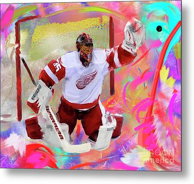 Jimmy Howard Metal Print by Donald Pavlica