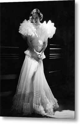 Joan Crawford, Mgm Portrait By Hurrell Metal Print by Everett