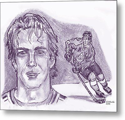 Joe Sakic Metal Print by Chris  DelVecchio