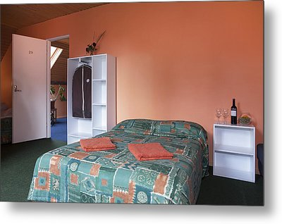 Jogeva County A Double Bed In A Bedroom Metal Print by Jaak Nilson