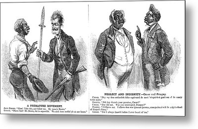 John Brown Cartoon, 1859 Metal Print by Granger