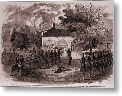 John Browns Insurrection.   While Metal Print by Everett