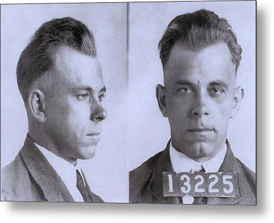 John Dillinger 1903-1934, In Mugshot Metal Print by Everett