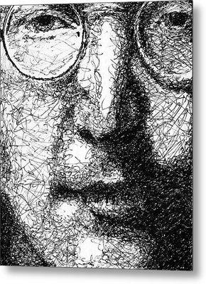 John Lennon Metal Print by Larry Joe