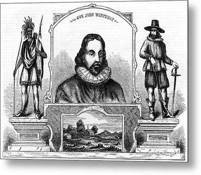 John Winthrop, English Puritan Lawyer Metal Print by Photo Researchers