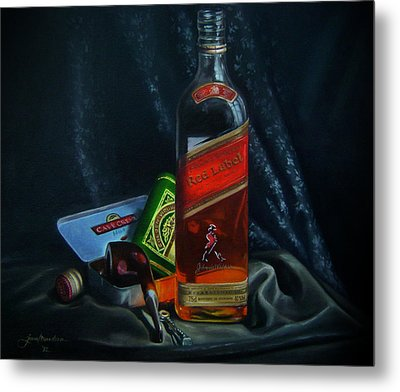 Johnnie Walker  Metal Print by Epifanio jr Mendoza