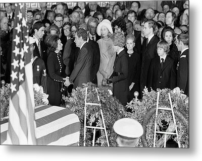Johnson Funeral, 1973 Metal Print by Granger