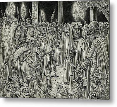 Judas In Garden Metal Print by Vincnt Clark