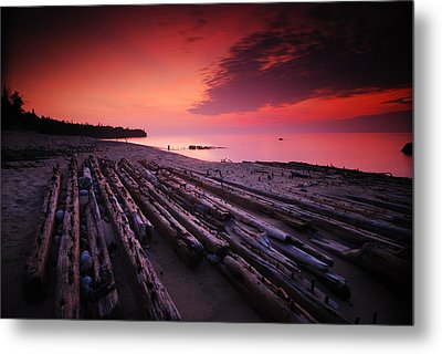 July Fourth Eighteen Eighty Three Shipwreck Metal Print by Mike Thompson
