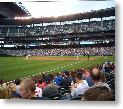 June Seattle Game With Red Sox Metal Print by Erin Stepanek