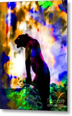 Jungle Cat On The Prowl Metal Print by Elinor Mavor