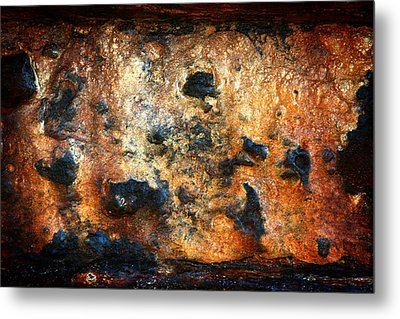 Just Rust Metal Print by Shane Rees