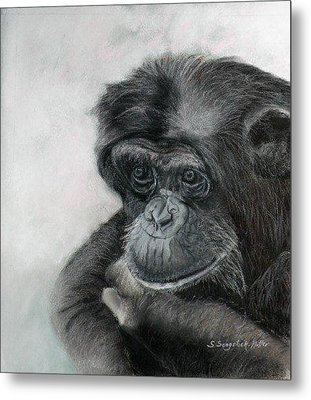 Just Thinking Metal Print by Sandra Sengstock-Miller