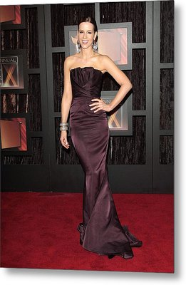 Kate Beckinsale Wearing A J. Mendel Metal Print by Everett