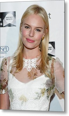 Kate Bosworth Wearing A Dolce & Gabbana Metal Print by Everett