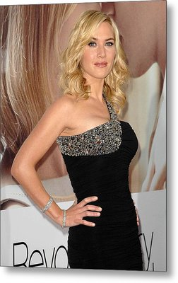 Kate Winslet Wearing A Balmain Dress Metal Print by Everett