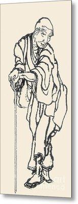 Katsushika Hokusai Metal Print by Granger