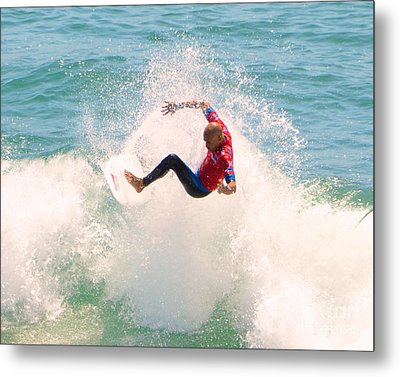 Kelly Slater Us Open Of Surfing 2012     6 Metal Print by Jason Waugh