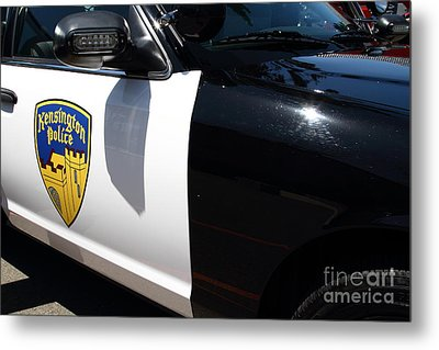 Kensington California Police Car . 7d15876 Metal Print by Wingsdomain Art and Photography