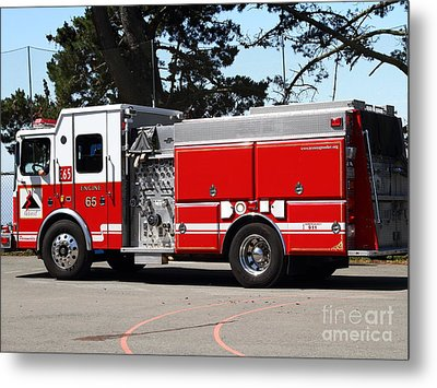 Kensington Fire District Fire Engine . 7d15854 Metal Print by Wingsdomain Art and Photography