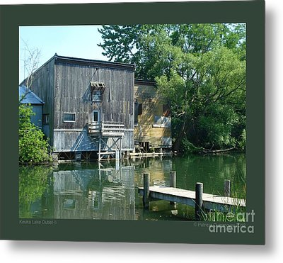 Keuka Lake Outlet-ii Metal Print by Patricia Overmoyer