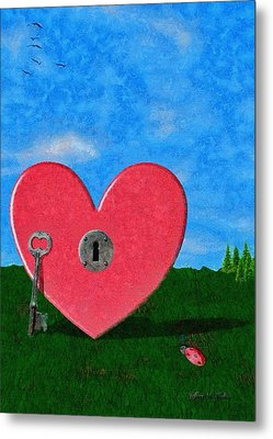 Key To My Heart Metal Print by Jeff Kolker