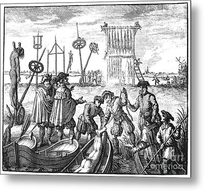 Killing Of Anabaptists Metal Print by Granger