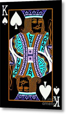 King Of Spades Metal Print by Wingsdomain Art and Photography