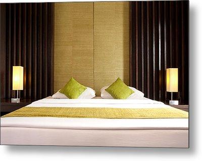 King Size Bed Metal Print by Atiketta Sangasaeng