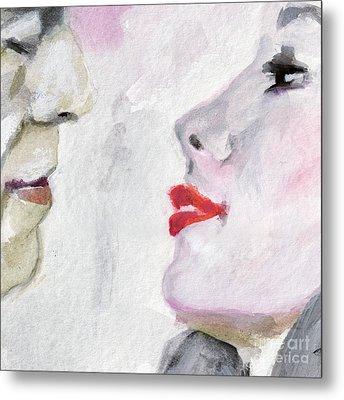 Kiss Me  Metal Print by Ginette Callaway