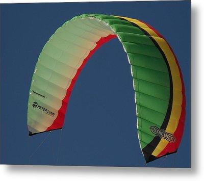 Kite Boarding Sail Metal Print by Carolyn Olney