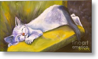 Kitten Dream Metal Print by Susan A Becker